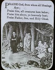 """Praise God, From Whom All Blessings Flow"", Hymn, Magic Lantern Glass Slide"