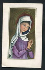 Dated 1971: Illustrated Card of Virgin Mary Praying: Sent As A Thank You