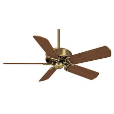 "CASABLANCA 50"" Ceiling Fan Panama Antique Brass HR 6644G Antique Oak Blades B545"