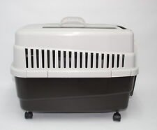 IMAC Hundetransportbox Kim mit Rollen 60 x 40 x 45 cm bis 10 kg braun