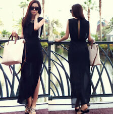 Elegant Casual Split Dress