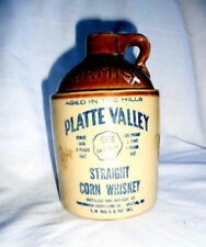 McCormick 1960s Straight Corn Whiskey Jug Platte Valley Vintage Rustic Bottle