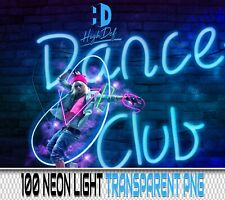 100 NEON LIGHTS TRANSPARENT PNG DIGITAL PHOTOSHOP OVERLAYS BACKDROPS BACKGROUNDS