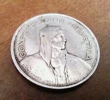 Switzerland 5 Francs, 1953 B XF 15gr .835 silver 31.5 mm