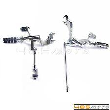 Chrom Vorwärtssteuerung Komplettset Stecker Für Harley XL883N Sportster Stahl