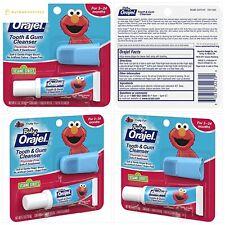 Baby Orajel Elmo Tooth & Gum Cleanser with Finger Brush, Fruity Fun, 0.7oz