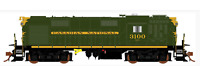 RAPIDO 1/87 HO CNR CANADIAN NATIONAL MLW RS-18 RD. #3124 DC / SILENT 32004 F/S