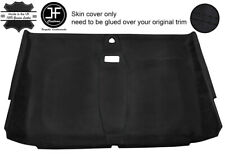 BLACK STICH FRONT ROOF HEADLINING PU SUEDE COVER FOR LAND ROVER DEFENDER 110 SW