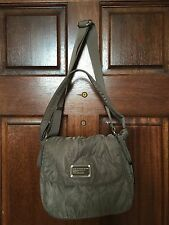 NWT Marc By Marc Jacobs Sasha Pretty Nylon Messenger Quartz Grey Bag $198