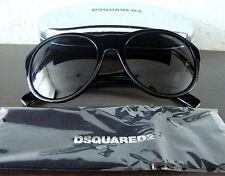 DSQUARED2 Luxus Damen Sonnenbrille Brille Sunglasses Schwarz NEU mit ETUI