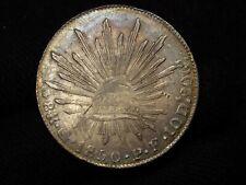 1850 Mexico Go P.F. 8 Reales GUANAJUATO MINT HIGH GRADE