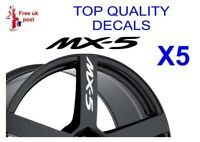 5 X MX5 MX-5 ALLOY WHEEL Decals  sticker