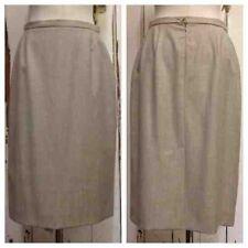 Jaeger Wool Patternless Regular Size Skirts for Women