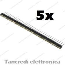 5x Connettori strip line 40 pin poli Femmina separabile 2.54mm circuito stampato