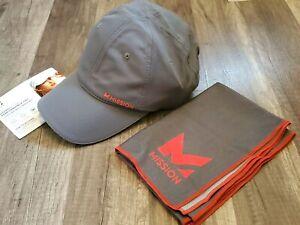 MISSION Hydro Active hat/cap and towel set gray/orange NWOT