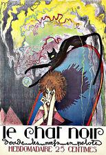 Art AD le Chat Noir 1922 Deco cartel impresión
