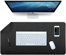 More details for  desk pad, office desk mat, 80 x 40cm pu leather ,multifunctional writing mat