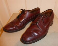 """BURBERRYS` by RUSSELL & BROMLEY """" EXETER """" BROWN ALL LEATHER BROGUES Size 8"""