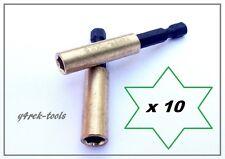 10 x Brass Magnetic Bit Holder 60mm Y4REK-TOOLS Orginal for Makita Dewalt Bosch