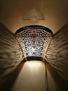 Moroccan wall light Sconce decoration oriental wall lamp Brass night light Fez