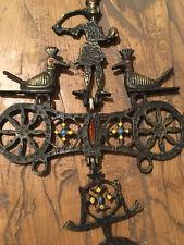 Très Belle Croix Sculpture Bronze Metal Oiseau  Ex Voto Origine Inconnue
