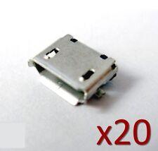 20x Connecteur à souder Micro USB type B femelle/ 20x female Connector to solder