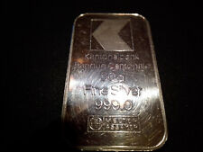 Silberbarren Kantonalbank Banque Cantonale Schweiz 50 Gramm 999 Feinsilber