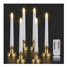 Window Candles with Remote Timer 6 Packs Battery Operated Warm White Flameless
