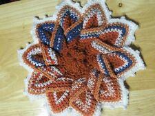 NEW  Handmade Crochet Hot Pad / Table Trivet - Bronco Spiral