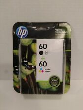 HP 60 Black & Tri-Color Ink Cartridges Combo Pack Brand New 1/2018