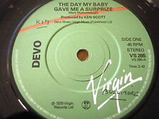 """DEVO - THE DAY MY BABY GAVE ME A SURPRIZE  7"""" VINYL"""