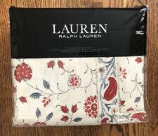 New! Ralph Lauren Kelsey Full Queen Duvet Cover Set Red Blue Floral Paisley