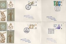 FOUR BRITISH ANNIVERSARIES 1968 FDCS - HENDON MANCHESTER WHITBY YORKSHIRE