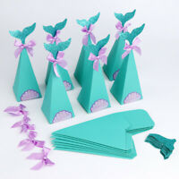 10 50 Pcs Mermaid Tail Paper Candy Bag Birthday Wedding Party Favour Gift Box