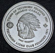 1994 TECUMSEH, Ontario TRADE DOLLAR - Chief Tecumseh - Lions Club Founded 1971
