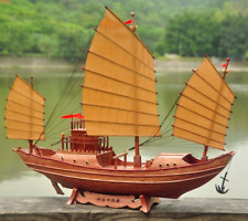 "21"" Chinese Ancient Ship Model Replica Wooden Ship, Holiday Present Gift, 54cm L"