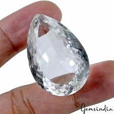 88.70 Carat Natural Finest White Quartz Untreated Pear Cut Sparkling Gemstone