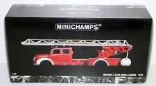 MINICHAMPS 1/43 - 439 140071 MAGIRUS S 6500 AERIAL LADDER / RED WHITE 1955