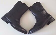 RALPH LAUREN COLLECTION ACKLEY BLACK VACHETTA COWBOY WESTERN BOOT SZ 7.5D ITALY