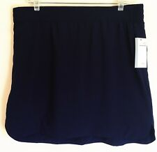Style & Co Sport NEW SKORT Skirt Over Knit Shorts Navy Blue Pull On Small S