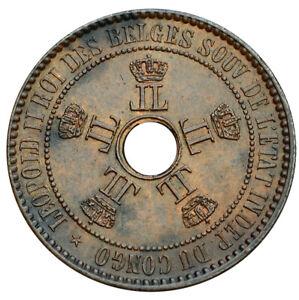 CONGO FREE STATE 5 CENTIMES 1887 UNC Leopold II