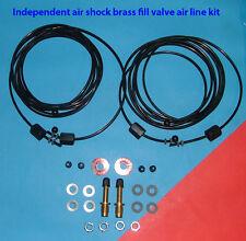 Gabriel Air shock hose kit with Independent Shock Brass fill valve option
