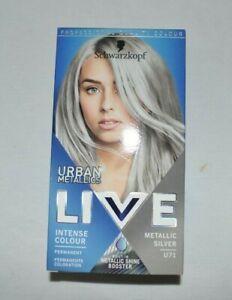 Schwarzkopf Live Hair Dye Urban Metallic Hair Colour Metallic Silver U71