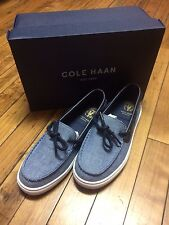 Cole Haan Pinch Camp boys shoe Marine Blue Chambray-sizes 13,1,1.5,2,2.5,3