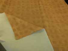 NEW PER METRE DEEP MUSTARD-GOLD COLOUR FABRIC WITH PRINTED BRUSH-STROKE PATTERN