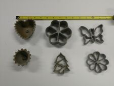 Vtg Hirco Patty Shell Rosette Mold Waffle  Six  Molds Flower Tree  Butterfly