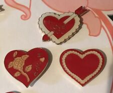 Set of 3 Valentine'S Day Heart Shaped I Love You Pins ~ Free Shipping!