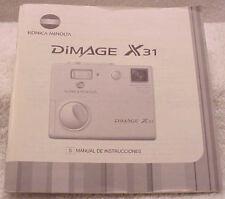 User Manual = Konica Minolta DiMage X31 Digital Camera (spanish)