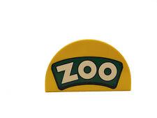 LEGO DUPLO Pierre à motif zoo jaune vert Neuf LE ZOO eingangsschild