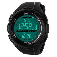 SKMEI Waterproof Digital LED Digital Rubber Wrist Watch Men's Sport Xmas Gift
